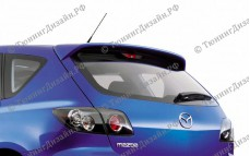 "Спойлер (со стоп-сигналом) ""ARS"" тюнинг для Mazda 3 BK (Мазда 3)"