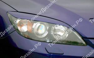 "Накладки на фары (средние реснички) ""MV"" для Mazda 3 BK"