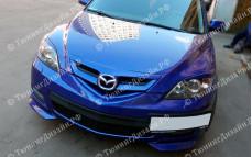 """Накладки переднего бампера (клыки) """"ARS"""" для Mazda 3 Sport"""