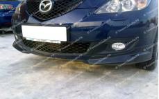 """Накладки переднего бампера (клыки) """"ARS"""" для Mazda 3 Touring"""
