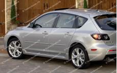 """Пороги """"MV"""" тюнинг для Mazda 3 BK (Мазда 3)"""
