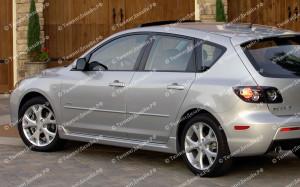 "Пороги ""MV"" для Mazda 3 BK"