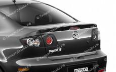 """Лип-спойлер """"ARS Sport"""" тюнинг для Mazda 3 BK (Мазда 3)"""
