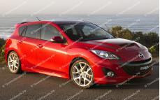 "Пороги ""ARS"" тюнинг для Mazda 3 BL (Мазда 3)"