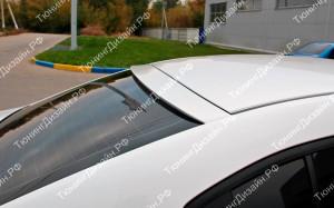 """Накладка на стекло (козырек) """"MV"""" для Mazda 3 BM"""
