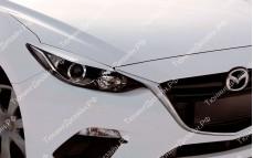 """Накладки на фары (реснички для стандартных фар) """"MV"""" для Mazda 3 BM"""