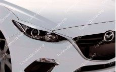 "Накладки на фары (реснички для стандартных фар) ""MV"" тюнинг для Mazda 3 BM (Мазда 3)"