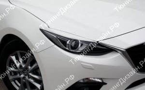"""Накладки на фары (реснички для адаптивных фар) """"MV"""" для Mazda 3 BM"""
