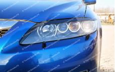 """Накладки на фары (реснички) """"ARS"""" для Mazda 6 GG"""