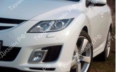 "Накладки на фары (реснички для стандартных фар) ""MV"" для Mazda 6 GH"