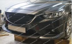 """Накладки переднего бампера (клыки + центральная вставка) """"ARS"""" для Mazda 6 GJ"""