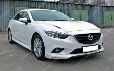 """Накладки переднего бампера (клыки) """"Lite Style"""" для Mazda 6 GJ"""