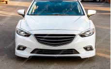 """Накладки переднего бампера (клыки) """"SkyActivSport"""" для Mazda 6 GJ"""