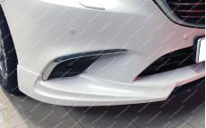 """Накладки переднего бампера (клыки) """"SkyActivSport"""" для Mazda 6 GJ [рестайлинг]"""