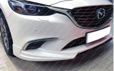 """Накладка переднего бампера (сплиттер) """"SkyActivSport"""" для Mazda 6 GJ [рестайлинг]"""