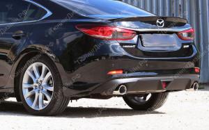 """Накладка на задний бампер (диффузор со стоп-сигналом) """"MV1"""" для Mazda 6 GJ"""