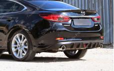 """Накладка на задний бампер (диффузор со стоп-сигналом) """"MV2"""" для Mazda 6 GJ"""