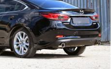"""Накладка на задний бампер (диффузор) """"MV3"""" тюнинг для Mazda 6 GJ (Мазда 6)"""