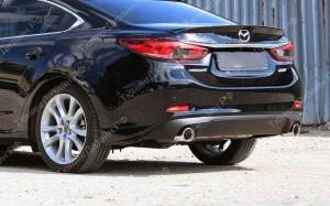 """Накладка на задний бампер (диффузор) """"MV3"""" для Mazda 6 GJ"""