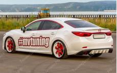"""Накладка на задний бампер (диффузор) """"MV4"""" тюнинг для Mazda 6 GJ (Мазда 6)"""