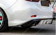 """Накладки заднего бампера (клыки) """"SkyActivSport"""" для Mazda 6 GJ"""