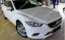 """Накладки на фары (фигурные реснички) """"MV"""" для Mazda 6 GJ"""