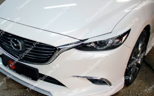 "Накладки на фары (реснички) ""MV"" для Mazda 6 GJ [рестайлинг]"