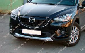 """Накладка на передний бампер (юбка) """"Minagi"""" для Mazda CX-5"""