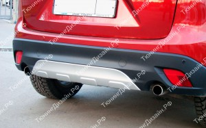 """Накладка на задний бампер (диффузор) """"Minagi"""" для Mazda CX-5"""