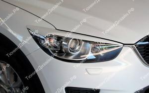 "Накладки на фары (широкие реснички) ""MV"" для Mazda CX-5"