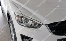 "Накладки на фары (узкие реснички) ""MV"" тюнинг для Mazda CX-5 (Мазда CX5)"