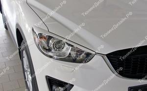 """Накладки на фары (узкие реснички) """"MV"""" для Mazda CX-5"""