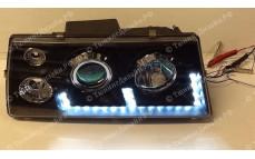 """Передние фары """"BP"""" (диодные, черные) для ВАЗ 2108, 2109, 2099"""