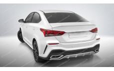 """Лип-спойлер """"Quant"""" Hyundai Solaris [2017-н.в.]"""