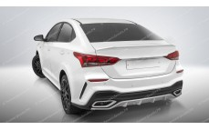 "Бампер задний ""Quant"" Hyundai Solaris [2017-н.в.]"