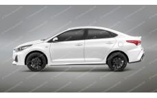 """Накладки на пороги """"Quant"""" Hyundai Solaris [2017-н.в.]"""