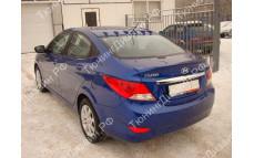 """Накладка на крышу (рассекатель) """"MV"""" для Hyundai Solaris седан [2010-2016]"""