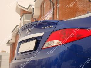 """Лип-спойлер """"MV"""" для Hyundai Solaris седан [2010-2016]"""