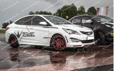 """Пороги """"ZEUS"""" для Hyundai Solaris [2010-2016]"""