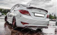 """Лип-спойлер """"ZEUS"""" для Hyundai Solaris седан [2010-2016]"""