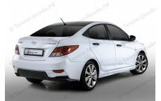 "Бампер задний ""YT iFlow"" тюнинг для Hyundai Solaris (Хендай Солярис)"
