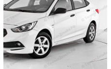 """Накладки на пороги """"YT Sport"""" тюнинг для Hyundai Solaris (Хендай Солярис)"""