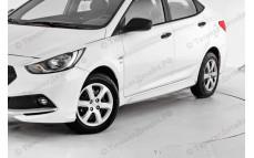 "Накладки на пороги ""YT Sport"" для Hyundai Solaris [2014-2016]"