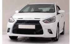 """Бампер передний """"YT Sport"""" тюнинг для Hyundai Solaris (Хендай Солярис)"""