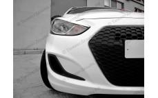 """Решетка радиатора (маска) """"YT"""" для Hyundai Solaris [2010-2014]"""