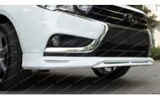 """Накладка на передний бампер (сплиттер) """"VTS"""" для Lada Vesta"""