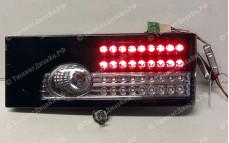 """Задние фонари """"BP"""" (диодные, черные) для ВАЗ 2108, 2109, 2099 и 2113, 2114"""