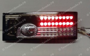 """Задние фонари """"BP"""" (диодные, серые) для ВАЗ 2108, 2109, 2099 и 2113, 2114"""
