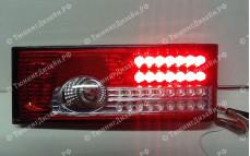"""Задние фонари """"BP"""" (диодные, красные/белые) для ВАЗ 2108, 2109, 2099 и 2113, 2114"""