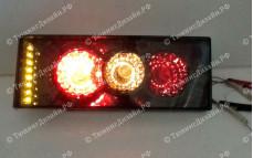 """Задние фонари """"BP"""" (диодные поворотники, тонированные) для ВАЗ 2108, 2109, 2099 и 2113, 2114"""